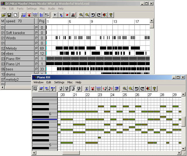 MIDI sequencer