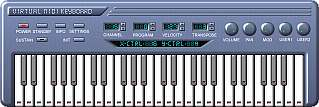 Virtual MIDI keyboard